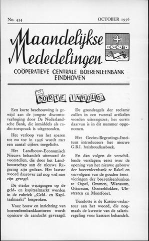 blad 'Maandelijkse Mededelingen' (CCB) 1956-10-01