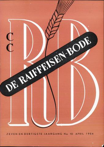 blad 'De Raiffeisen-bode' (CCRB) 1954-04-01