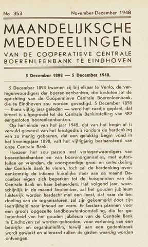 blad 'Maandelijkse Mededelingen' (CCB) 1948-11-01