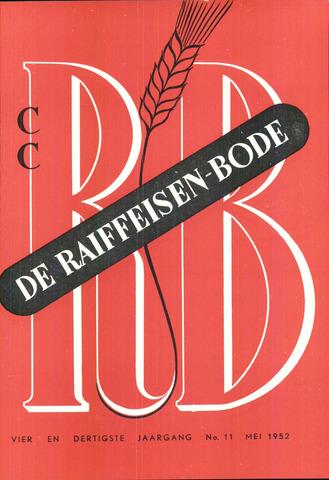 blad 'De Raiffeisen-bode' (CCRB) 1952-05-01