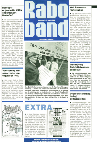 blad 'Raboband' 1989-04-07