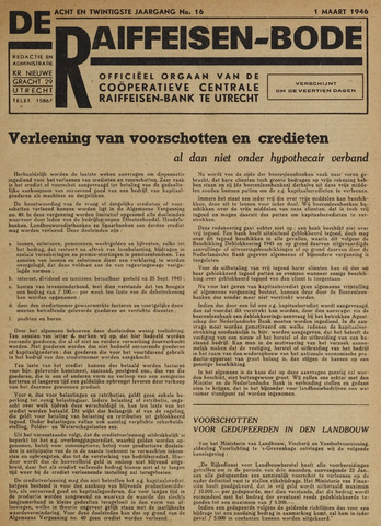 blad 'De Raiffeisen-bode' (CCRB) 1946-03-01
