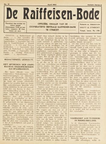 blad 'De Raiffeisen-bode' (CCRB) 1923-04-01