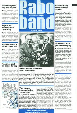 blad 'Raboband' 1992-03-25
