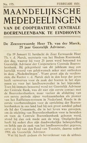 blad 'Maandelijkse Mededelingen' (CCB) 1931-02-01