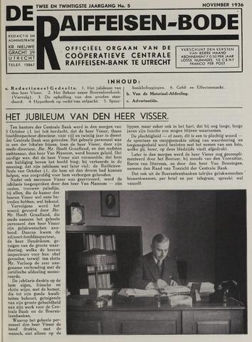 blad 'De Raiffeisen-bode' (CCRB) 1936-11-01
