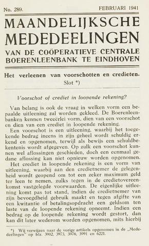 blad 'Maandelijkse Mededelingen' (CCB) 1941-02-01