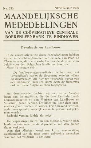 blad 'Maandelijkse Mededelingen' (CCB) 1936-11-01