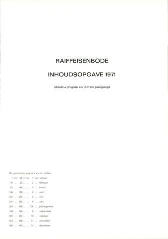 blad 'De Raiffeisen-bode' (CCRB) 1971-01-01