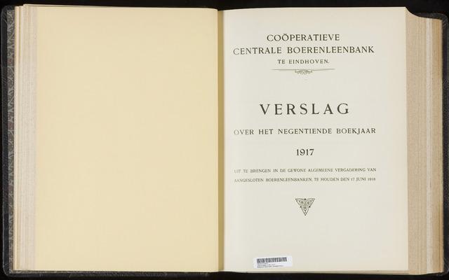 Jaarverslagen Coöperatieve Centrale Boerenleenbank 1917-12-31