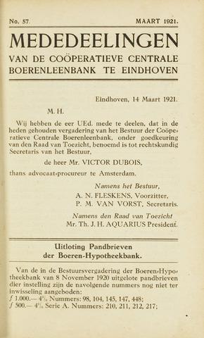 blad 'Maandelijkse Mededelingen' (CCB) 1921-03-01