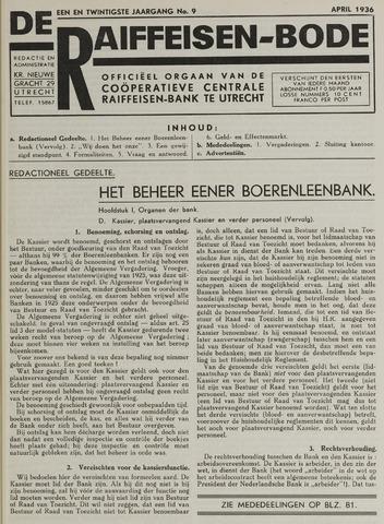 blad 'De Raiffeisen-bode' (CCRB) 1936-04-01