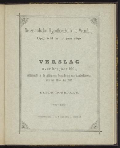 Jaarverslagen Nederlandsche Hypotheekbank 1901