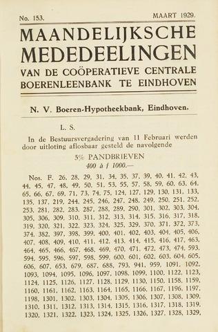 blad 'Maandelijkse Mededelingen' (CCB) 1929-03-01
