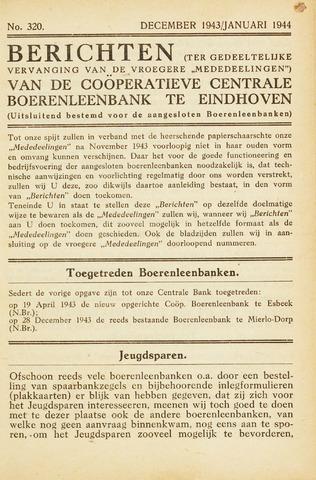 blad 'Maandelijkse Mededelingen' (CCB) 1943-12-01