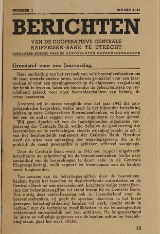 blad 'Berichten' (CCRB) 1944-03-01