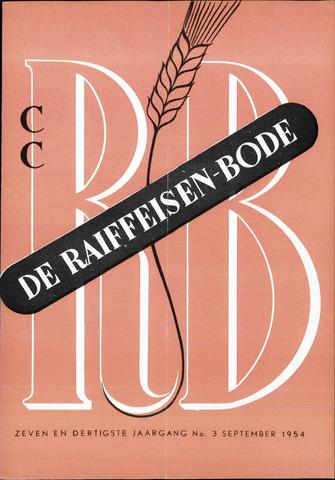 blad 'De Raiffeisen-bode' (CCRB) 1954-09-01