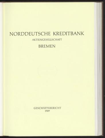 Geschäftsberichte Norddeutsche Kreditbank 1969