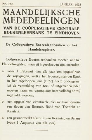 blad 'Maandelijkse Mededelingen' (CCB) 1938-01-01