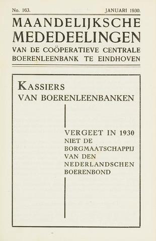 blad 'Maandelijkse Mededelingen' (CCB) 1930-01-01