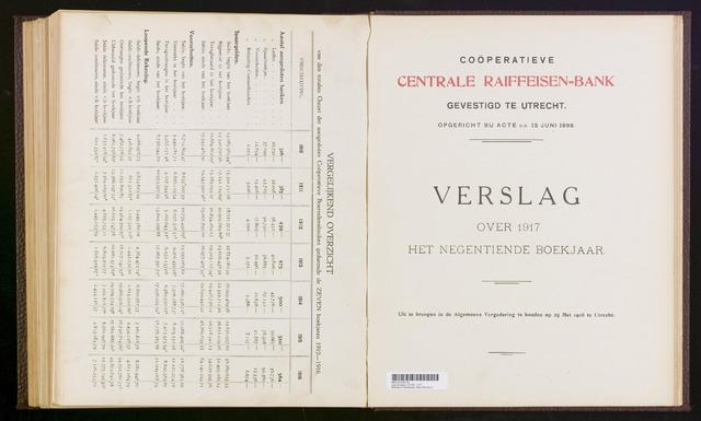 Jaarverslagen Coöperatieve Centrale Raiffeisen-Bank 1917-12-31