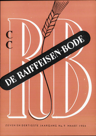 blad 'De Raiffeisen-bode' (CCRB) 1954-03-01