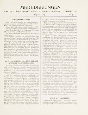 blad 'Mededeelingen' (CCB) 1913-08-01