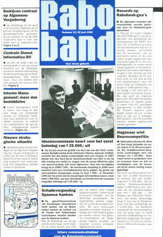 blad 'Raboband' 1992-06-22