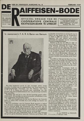 blad 'De Raiffeisen-bode' (CCRB) 1939-02-01