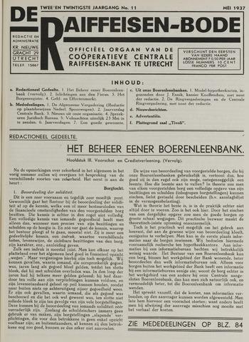 blad 'De Raiffeisen-bode' (CCRB) 1937-05-01