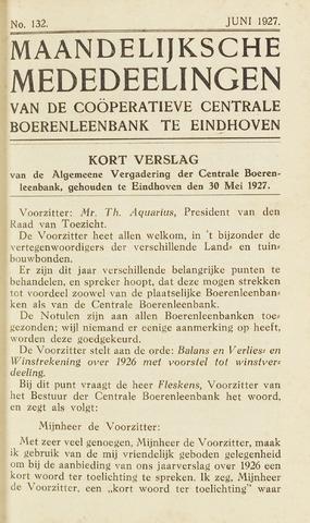 blad 'Maandelijkse Mededelingen' (CCB) 1927-06-01
