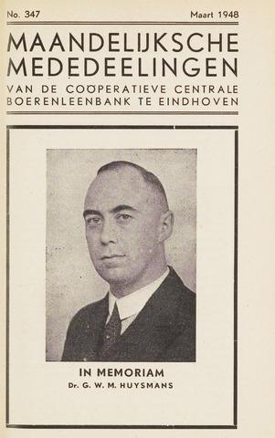 blad 'Maandelijkse Mededelingen' (CCB) 1948-03-01