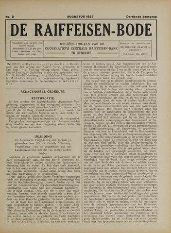blad 'De Raiffeisen-bode' (CCRB) 1927-08-01