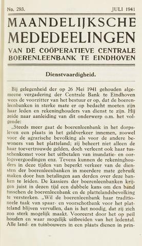 blad 'Maandelijkse Mededelingen' (CCB) 1941-07-01