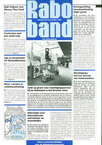 blad 'Raboband' 1992-11-16