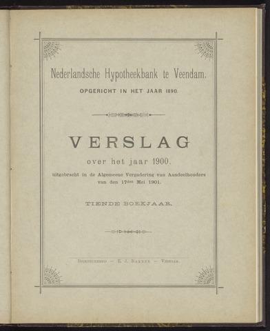 Jaarverslagen Nederlandsche Hypotheekbank 1900