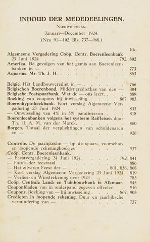 blad 'Maandelijkse Mededelingen' (CCB) 1924