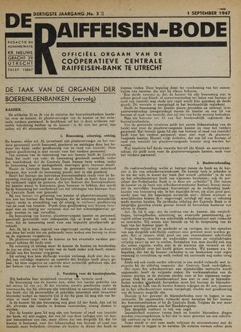 blad 'De Raiffeisen-bode' (CCRB) 1947-09-01