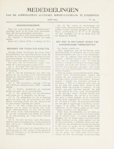 blad 'Mededeelingen' (CCB) 1913-04-01