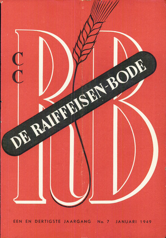 blad 'De Raiffeisen-bode' (CCRB) 1949