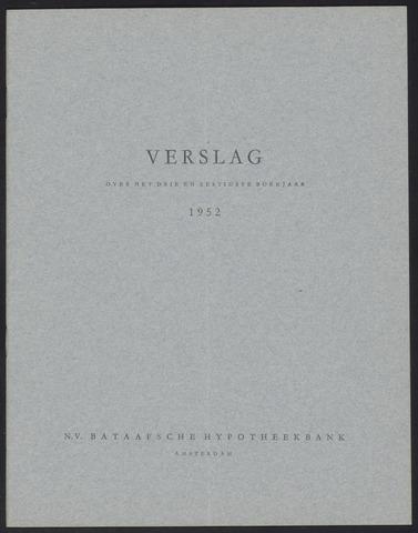 Jaarverslagen Bataafsche Hypotheekbank 1952