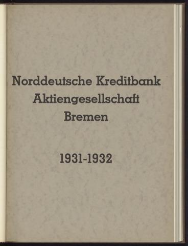 Geschäftsberichte Norddeutsche Kreditbank 1931-01-01