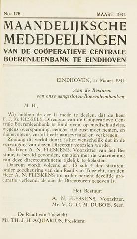 blad 'Maandelijkse Mededelingen' (CCB) 1931-03-01
