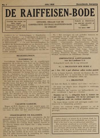 blad 'De Raiffeisen-bode' (CCRB) 1931-07-01