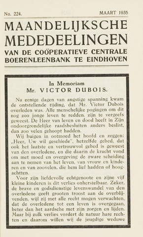 blad 'Maandelijkse Mededelingen' (CCB) 1935-03-01