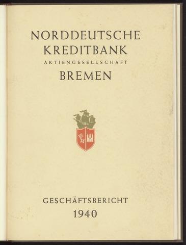 Geschäftsberichte Norddeutsche Kreditbank 1940-01-01
