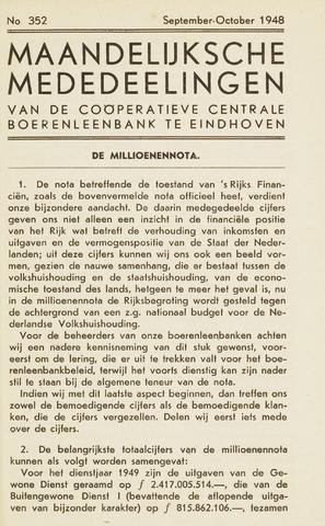 blad 'Maandelijkse Mededelingen' (CCB) 1948-09-01