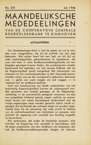 blad 'Maandelijkse Mededelingen' (CCB) 1946-07-01