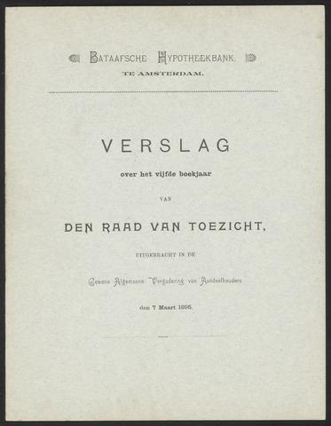 Jaarverslagen Bataafsche Hypotheekbank 1894