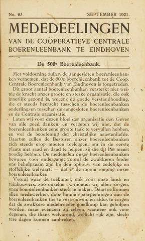 blad 'Maandelijkse Mededelingen' (CCB) 1921-09-01